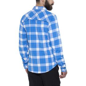 Bergans Jondal Shirt LS Herren athens blue/white check
